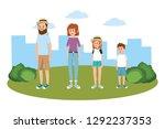 family at park | Shutterstock .eps vector #1292237353