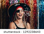 beautiful young woman having... | Shutterstock . vector #1292238643