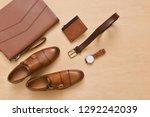 set of men's accessories. top... | Shutterstock . vector #1292242039