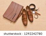 set of men's accessories. top... | Shutterstock . vector #1292242780