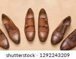 brown men's leather shoes for... | Shutterstock . vector #1292243209