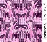 quirky tapestry pattern.... | Shutterstock .eps vector #1292244919