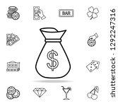 money bag icon. detailed...