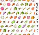 vegetables set. background for... | Shutterstock .eps vector #1292250109