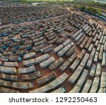 aerial view from drone trucks... | Shutterstock . vector #1292250463