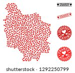 collage map of burgundy... | Shutterstock .eps vector #1292250799