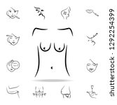 sagging breasts icon. detailed... | Shutterstock . vector #1292254399
