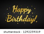 happy birthday  banner with... | Shutterstock .eps vector #1292259319