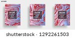 mixture of acrylic paints.... | Shutterstock .eps vector #1292261503