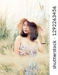 a portrait of a sexyl asian...   Shutterstock . vector #1292263456