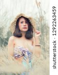 a portrait of a sexyl asian...   Shutterstock . vector #1292263459