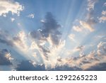 beautiful sunrise in morning   Shutterstock . vector #1292265223