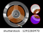 retro reel with tape for... | Shutterstock .eps vector #1292283970
