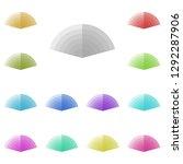 fan chart icon in multi color....