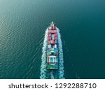 aerial view container ship full ... | Shutterstock . vector #1292288710