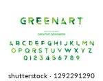 green eco original bold font... | Shutterstock .eps vector #1292291290