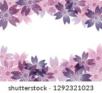 background of cherry blossoms | Shutterstock .eps vector #1292321023
