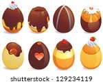 abstract happy easter day... | Shutterstock .eps vector #129234119