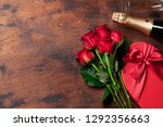 valentine's day greeting card... | Shutterstock . vector #1292356663