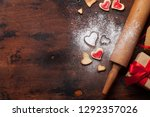 valentine's day greeting card... | Shutterstock . vector #1292357026