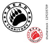 Bear Footprint Stamp   Vector...