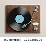 vintage record player with... | Shutterstock .eps vector #1292358103