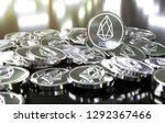 eos coins  blockchain concept.... | Shutterstock . vector #1292367466