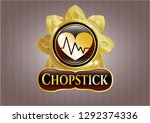 gold badge or emblem with... | Shutterstock .eps vector #1292374336