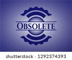 obsolete badge with denim... | Shutterstock .eps vector #1292374393