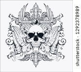 vector skull illustrations for... | Shutterstock .eps vector #1292378989