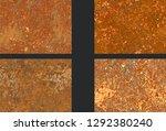 set corrosion  rusty texture ... | Shutterstock .eps vector #1292380240