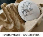 expired salty egg  broken and... | Shutterstock . vector #1292381986