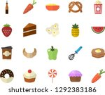 color flat icon set cake flat... | Shutterstock .eps vector #1292383186