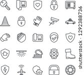 thin line icon set   plane... | Shutterstock .eps vector #1292388736