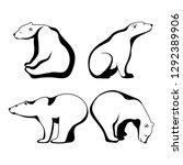 polar bear  symbol of the... | Shutterstock .eps vector #1292389906