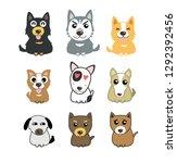 dogs cute set | Shutterstock .eps vector #1292392456