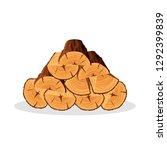 stack of firewood materials for ... | Shutterstock .eps vector #1292399839