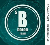 boron chemical element. sign... | Shutterstock .eps vector #1292399929
