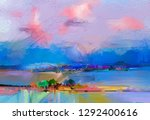 abstract oil painting landscape.... | Shutterstock . vector #1292400616