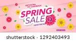 spring sale banner template... | Shutterstock .eps vector #1292403493