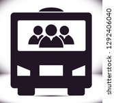 bus  vector icon | Shutterstock .eps vector #1292406040