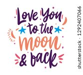 love you to the moon and back... | Shutterstock .eps vector #1292407066