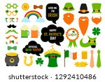 saint patricks day photo booth... | Shutterstock .eps vector #1292410486
