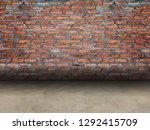 texture of brick wall  mortar... | Shutterstock . vector #1292415709