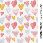 love hearts seamless pattern.... | Shutterstock .eps vector #129241820