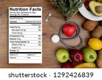 nutrition food  for good health ... | Shutterstock . vector #1292426839