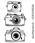vector set of three vintage... | Shutterstock .eps vector #129243026