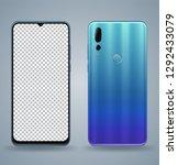 smartphone transparent screen... | Shutterstock .eps vector #1292433079