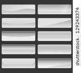 shiny banner buttons  white... | Shutterstock .eps vector #129243374