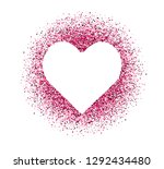 confetti of hearts on white... | Shutterstock .eps vector #1292434480